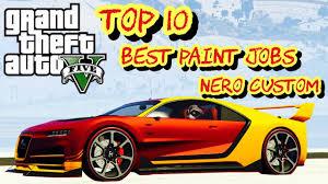 Bestpaint Top 10 Best Paint Jobs Of The New Nero Custom Import Export Dlc