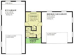 rv garage with workshop 9829sw architectural designs house plans