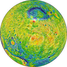 World Map Hemispheres by New Mars Gravity Map