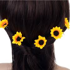 hair cuff online shop 10pcs wedding bridal hair pin yellow sunflower hair