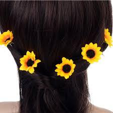 hair cuff online shop 10pcs wedding bridal hair pin yellow sunflower hair