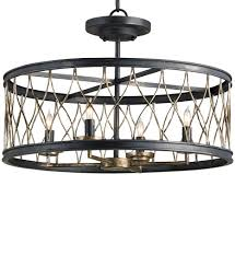 4 Light Semi Flush Ceiling Fixture by Semi Flush Ceiling Lights Lamps Com