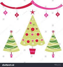 vintage christmas tree illustration ne wall