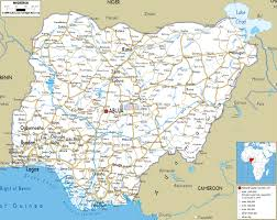 Nigeria On World Map by Large Detailed Road Map Of Nigeria With All Cities Roads And