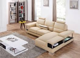 casa t717 mini modern beige sectional sofa