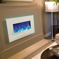 Electric Fireplace Wall by Electric Fireplaces Clean White Glass Surround 26