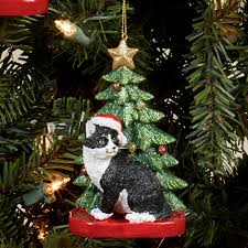 kurt adler cat personalized tree ornament