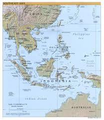 Asia Rivers Map by Southeast Asia Geography