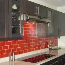 Gray Glass Subway Tile Backsplash - red kitchen backsplash red tile backsplashes are bold and