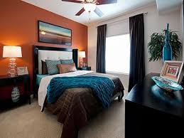 orange home decor and enchanting brown and orange bedroom ideas