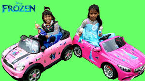 pink mini cooper frozen elsa u0026 anna decorate their pink mini cooper u0026 mercedes benz