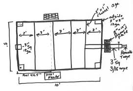 utility trailer building plans free home pattern