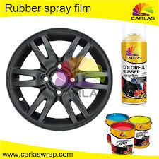 rubber car coating wheel rim protection color changing aerosol