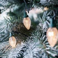 80 warm white led c7 pinecone christmas tree lights l