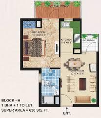 shri krishna residency bhiwadi floor plan 1bhk 1t 630 sqft