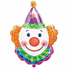 clown baloons smiling clown purple orange 33 mylar balloon