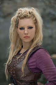 lagertha lothbrok hair braided vikings season 4 promotional photos women with sword