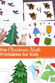 fun christmas math printables for kids simple fun for kids