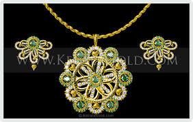 design necklace pendant images Kerala gold jewellery design pendant 9 jpg