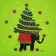 christmas elephant n1485 pack of 5 u2013 jaab cards