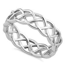 braided band sterling silver celtic braided band ring