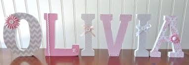 Letter Decorations For Nursery Wall Letters Decor Nursery Wooden Custom Name Tradesman