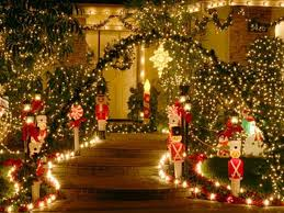 artistic big outdoor along with lighted outside decorations
