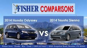 honda odyssey toyota 2014 honda odyssey vs 2014 toyota vehicle comparison