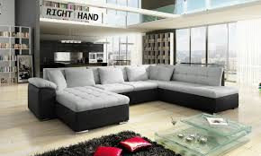 Fabric And Leather Sofas Leather Fabric Corner Sofa Nrtradiant Com