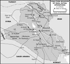 Pentagon Map Us Coalition Invasion Of Iraq Weapons And Warfare
