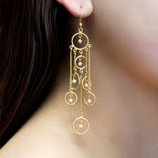 nelly earrings the nelly earrings are comprised of gold vermeil loops and chains