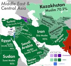 Middle East Geography Map by Most Religious Places Middle East U0026 Central Asia Visual Ly