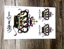 halloween makeup stickers online get cheap crown tattoos aliexpress com alibaba group