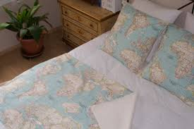 World Map Duvet Cover Uk by World Map Bedding Map Set Of 3 1 Blanket And 2 Cushions
