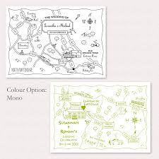 Rowan Map Print Your Own Mono Wedding Or Party Custom Map By Cute Maps