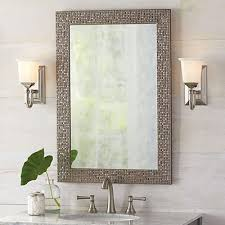 pretty brushed nickel bathroom mirrors mirror great durability and