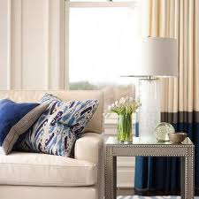 White Curtains With Blue Trim White Curtains With Blue And Gray Trim Design Ideas