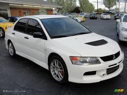 mitsubishi evolution 2006 2006 wicked white mitsubishi lancer evolution ix rs 28312744