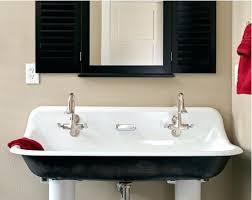 Double Trough Sink Bathroom Double Trough Sink Bathroom Vanity Modern Rectangular Sinks Native