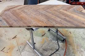 Build A Wooden Table Top by Remodelaholic Diy Wood Herringbone Coffee Table With Hairpin Legs
