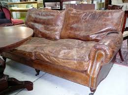 Worn Leather Sofa Leather Scuffed And Doesn U0027t Cost The Earth Interiors Doesn