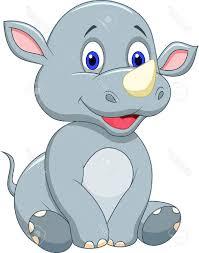 safari cartoon best cute baby rhino cartoon stock vector safari images