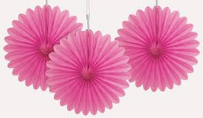 hot pink tissue paper 6 inch hot pink tissue paper fans are great for party decorations