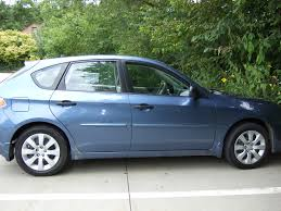 blue subaru hatchback subaru impreza questions clunk in rear when going from park to