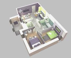 nice simple house plan with 2 bedrooms 3d simple house plans