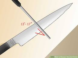 sharpening for kitchen knives how to sharpen serrated knives 12 steps with pictures wikihow