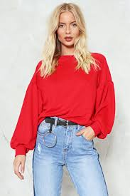take it easy balloon sweatshirt shop clothes at nasty gal