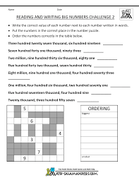 4th grade math worksheets reading writing big numbers 2 age 9 11