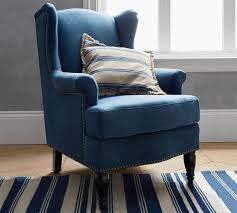 Upholstered Armchairs Living Room Soma Delancey Wingback Upholstered Armchair Pottery Barn Au