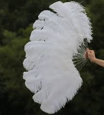 feather fans 2018 single layer white ostrich feather fan large feather